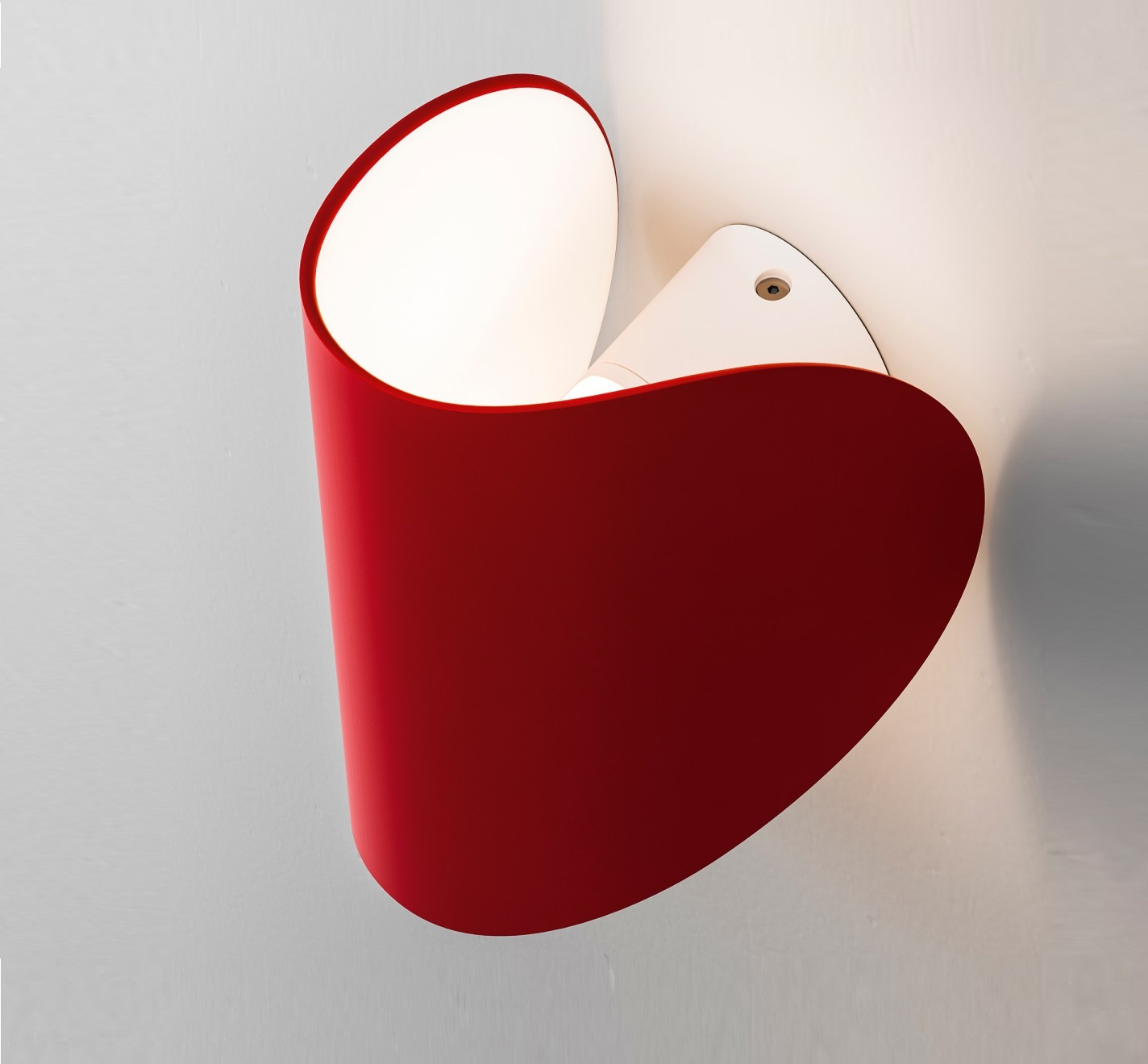 applique murale io rouge led h16 5cm fontana arte luminaires nedgis. Black Bedroom Furniture Sets. Home Design Ideas