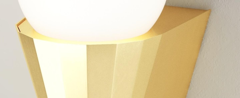 Applique murale ip cornet laiton ip44 l12 5cm h21 2cm cvl normal