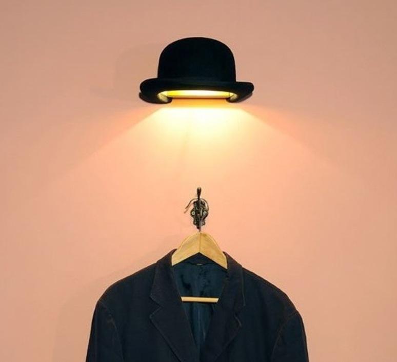 Applique murale chapeau Jeeves noir ˜25cm H13cm Innermost