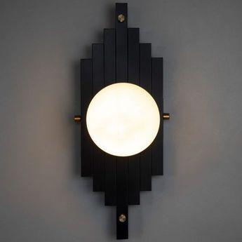 Applique murale josephine simple noir l16cm h40cm daniel gallo normal