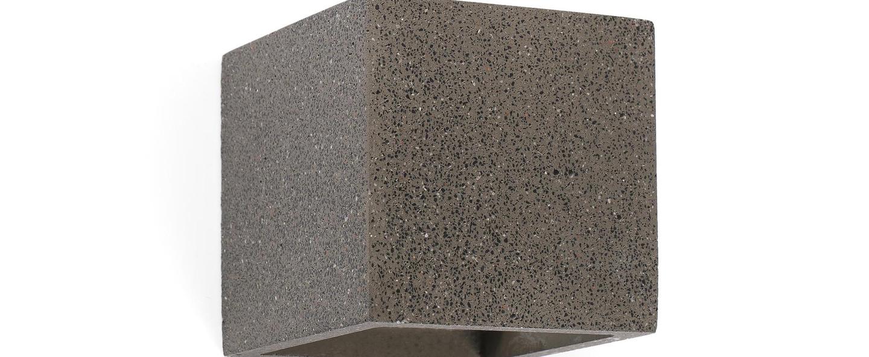Applique murale kamen gris l11 5cm h11 5cm faro normal