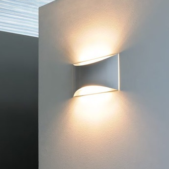 Applique murale kelly led blanc h16 5cm oluce normal