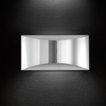 Applique murale kelly led chrome h16 5cm oluce normal