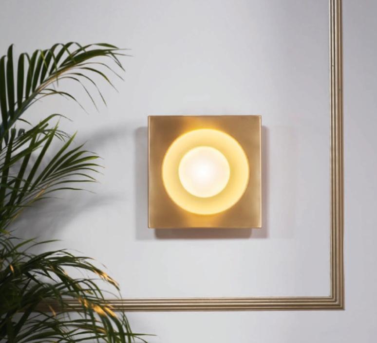 Kins  applique murale wall light  bert frank kins wall light brass white  design signed 36093 product