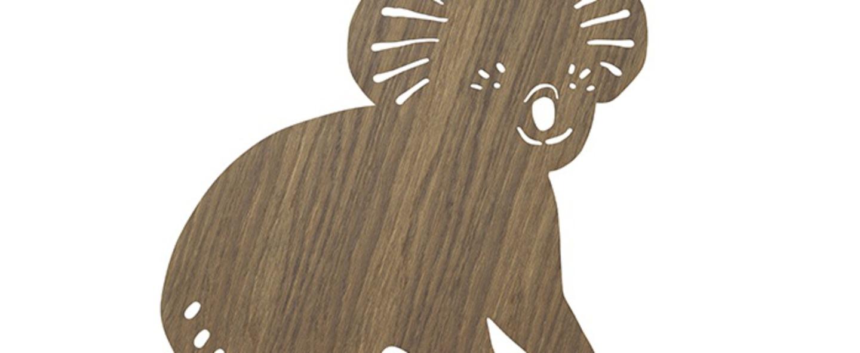 Applique murale koala lamp chene l30 41cm h34cm ferm living normal