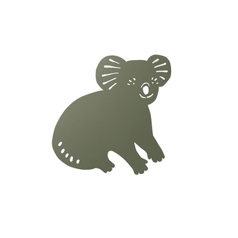 Applique murale koala lamp noir olive l30 41cm h34cm ferm living normal