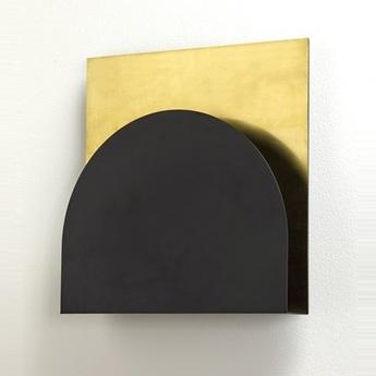 Applique murale kvg 05 02 noir laiton l30cm h30cm serax normal