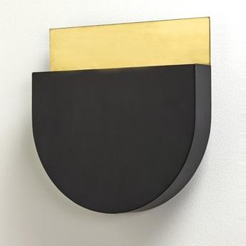 Applique murale kvg 05 03 noir laiton l30cm h30cm serax normal