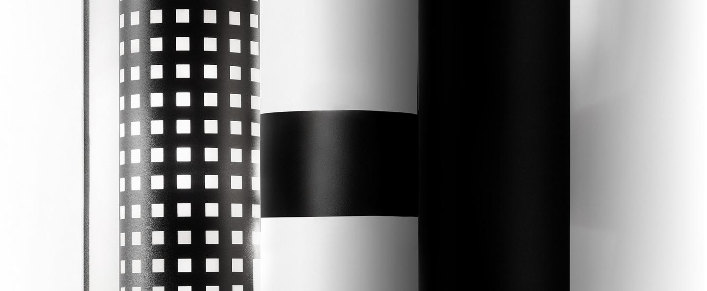 Applique murale la lollo noir et blanc l27cm h31 4cm slamp normal