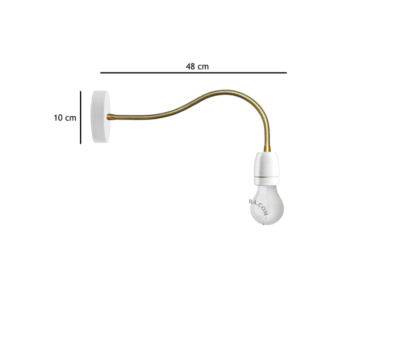 Lampe a bras flexible  applique murale wall light  zangra light 040 w go  design signed 37897 product