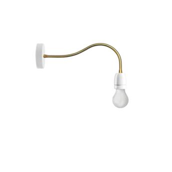 Applique murale lampe a bras flexible blanc led o10cm h48cm zangra normal