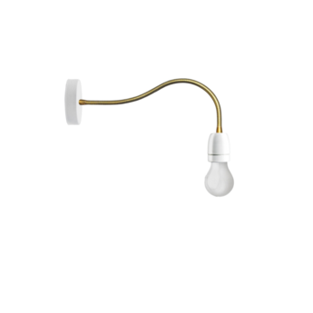 Applique murale lampe a bras flexible blanc led o10cm h48cm zangra normal