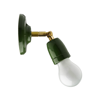 Applique murale lampe articulable porcelaine vert led o10 5cm h15cm zangra normal