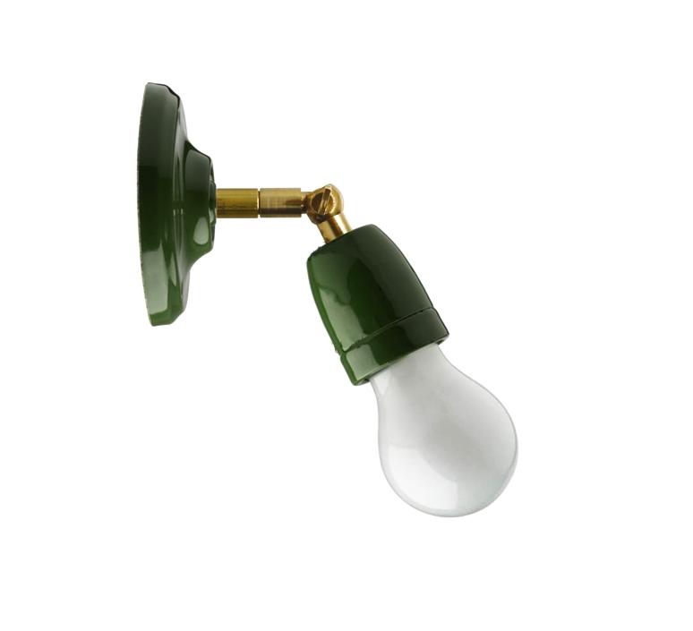 Wall Light Green Led O10 5cm H15cm Zangra Nedgis Lighting