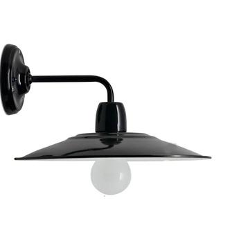 Applique murale lampe d atelier noir l28cm h17cm zangra normal