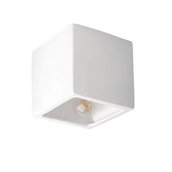 Applique murale lampe en ceramique blanc l15 5cm h15 5cm zangra normal