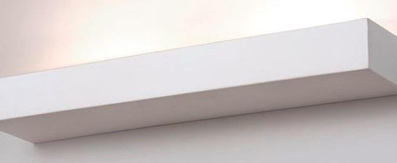 Applique murale lampe en ceramique blanc l42cm h5cm zangra normal