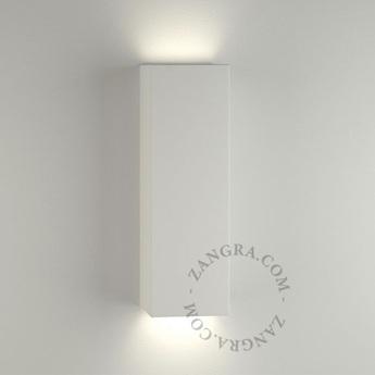 Applique murale lampe en ceramique blanc l7cm h21cm zangra normal