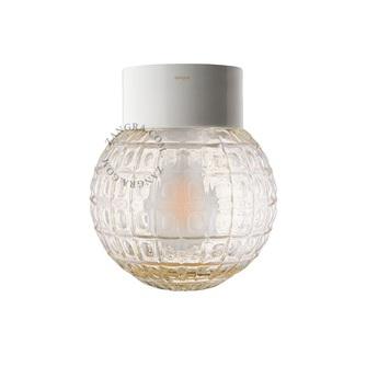 Applique murale lampe etanche en porcelaine 032 blanc ip 54 o15cm h15cm zangra normal