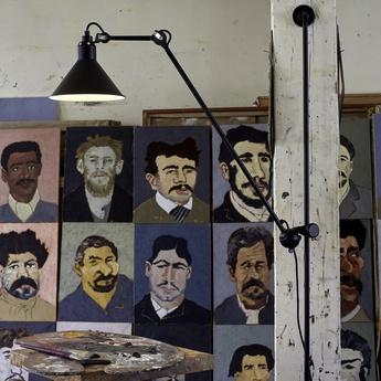 Applique murale lampe gras 214 noir satine h118cm dcw editions normal