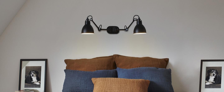 Applique murale lampe gras n 204 double noir up tol52 3cm h15 2cm dcw editions normal