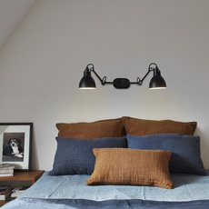 Lampe gras n 204 double bernard albin gras applique murale wall light  dcw editions  n 204 double bl bl  design signed nedgis 64852 thumb