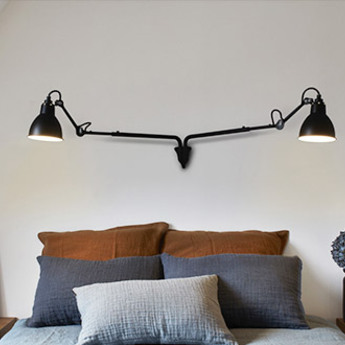 Applique murale lampe gras n 204 double noir up tol52 3cm h15 2cm dcw editions normal