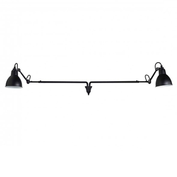 Applique murale lampe gras n 213 double noir jusqu a l145cm h15 3cm dcw editions normal