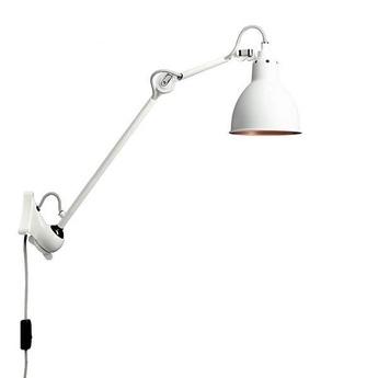 Applique murale lampe gras n 222 blanc cuivre l59cm d14cm dcw editions normal