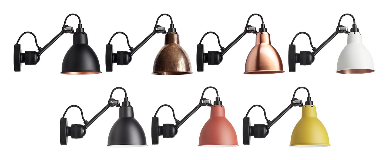 Applique murale lampe gras n 304 noir abat jour conique cuivre brut interieur cuivre brut l14cm h15cm dcw editions paris normal