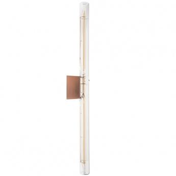 Applique murale lampe tubulaire filament transparent cuivre l3cm h50cm zangra normal