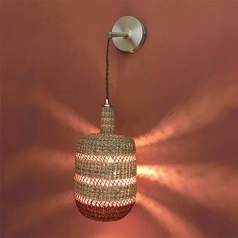Applique murale lantern naturel gingembre o15cm h28cm golden editions normal