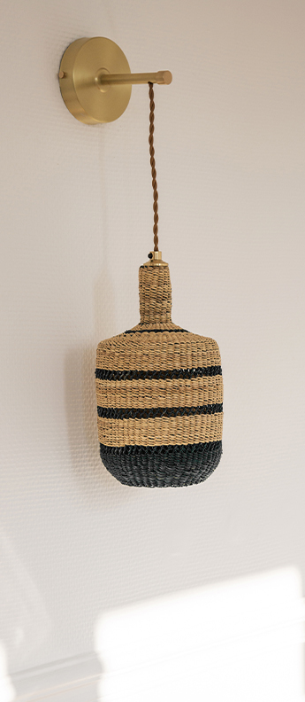 Applique murale lantern naturel minuit o15cm h28cm golden editions normal