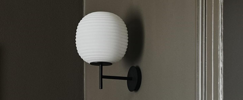 Applique murale lantern verre opal blanc noir o25cm h30cm new works normal