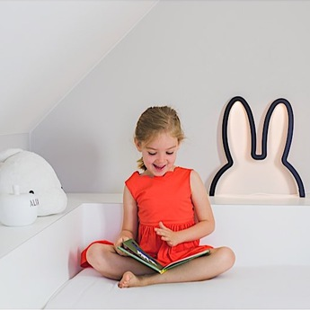 Applique murale lapin nijn wooden wall art noir led l38cm h40cm atelier pierre normal