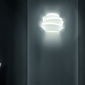 Applique murale le soleil dimmable blanc l37cm h29cm foscarini normal