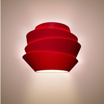 Applique murale le soleil dimmable rouge l37cm h29cm foscarini normal