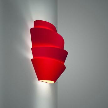 Applique murale le soleil rouge l37cm h29cm foscarini normal