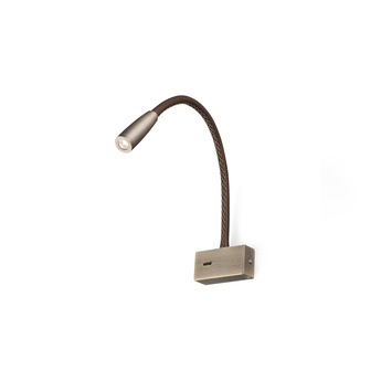 Applique murale lead bronze led 3000k 180lm ocm h40cm faro normal