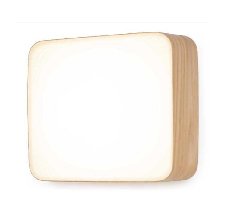 Applique Murale Led Cube Blanc Chene H22 5cm Tunto