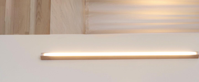 Applique murale led40 frene l100cm tunto normal