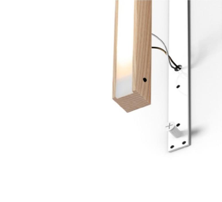 Led40 mikko karkkainen tunto led40 fix 100 walnut luminaire lighting design signed 12277 product