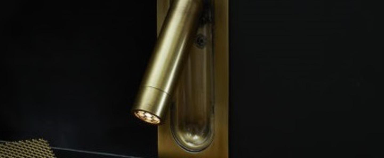 Applique murale ledtube mini bronze led 2700k 132lm l4 5cm h11 3cm marset normal