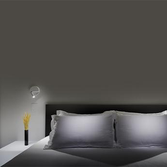 Applique murale ledtube r gauche blanc mat led 2700k 132lm o13 2cm h3 4cm marset normal
