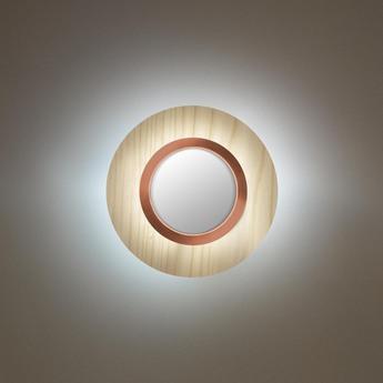 Applique murale lens circular blanc ivoire cuivre led 3000k 160lm l24 5cm h24 5cm lzf normal