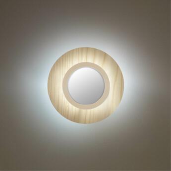 Applique murale lens circular blanc ivoire led 3000k 160lm l24 5cm h24 5cm lzf normal