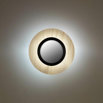 Applique murale lens circular blanc ivoire noir led 3000k 160lm l24 5cm h24 5cm lzf normal