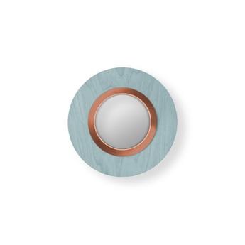 Applique murale lens circular bleu mer cuivre led 3000k 160lm l24 5cm h24 5cm lzf normal