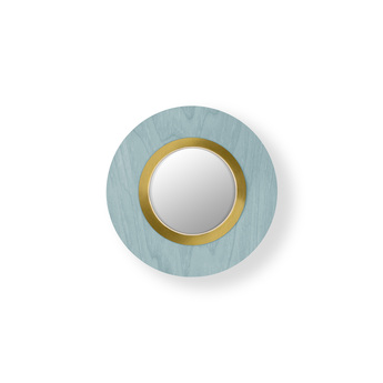 Applique murale lens circular bleu mer dore led 3000k 160lm l24 5cm h24 5cm lzf normal