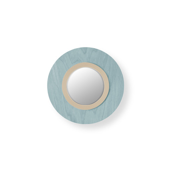 Applique murale lens circular bleu mer ivoire led 3000k 160lm l24 5cm h24 5cm lzf normal